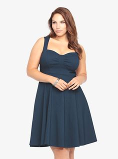 Love our Retro Swing Dress in Navy!
