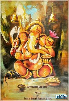 May *Lord Vighna Vinayaka* removes all obstacles and shower you & yours with health, wealth n happiness...  *Happy Ganesh Chaturthi.*