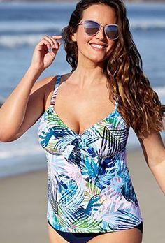 f40079b97c Plus Size Separates - Noho Tie Front Underwire Top Plus Size Swim