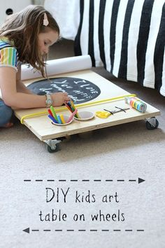 DIY kids art table on wheels | Growing Spaces >>> >>> >>> >>> We love this at Little Mashies headquarters littlemashies.com