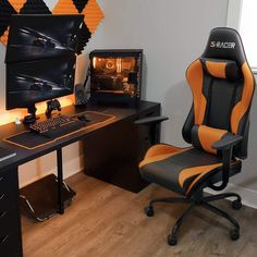 Homall Gaming Chair High Back Racing Chair - Orange