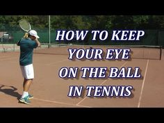 Watching the ball or keeping your head still at contact is one of the most common coaching advice in tennis and . Tennis Doubles, Tennis Serve, Tennis Match, Tennis Lessons, Tennis Tips, Sport Tennis, Tennis Videos, Tennis Clubs, Tennis Players