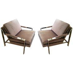 Pair Milo Baughman Chairs