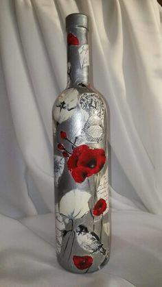 Бутылка Маки. Декупаж