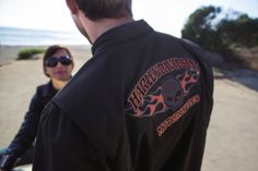 Guaranteed to get you noticed.   Harley-Davidson Men's Burning Skull Casual Jacket
