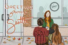 Illustrator's self promo postcard series 2 © Katherine Wheeler