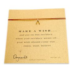 make a wish necklace with gold dipped wishbone... the original