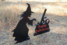 La bruja y el caldero Halloween yarda decoración grabar Feliz