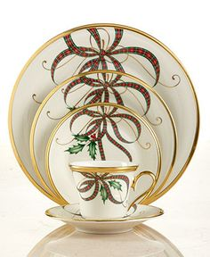 Lenox Dinnerware, Exclusive Holiday Nouveau Ribbon Collection - Fine China - Dining & Entertaining - Macy's