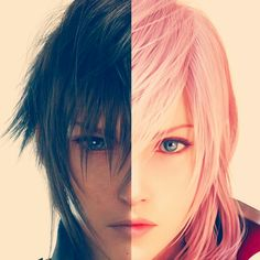 Noctis Lucis Caelum Lightning Farron  Final Fantasy XIII Final Fantasy XIII Versus Final Fantasy XV