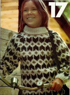 Retrosiden Knitting For Kids, Knitting Projects, Hand Knitting, Fair Isle Knitting Patterns, Fair Isle Pattern, Thick Sweaters, 4 Kids, Sweater Weather, Men Sweater