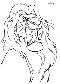 mufasa roars coloring page