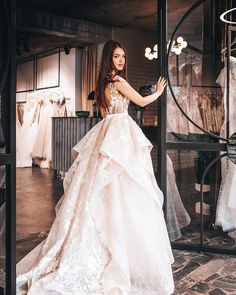 Have you thought about a princess style wedding gown with an open back and lace skirt? Reality Collection by Ange Etoiles xx Bridal Gowns, Wedding Gowns, Lace Wedding, Pretty Dresses, Beautiful Dresses, Special Dresses, Princess Style, Princess Wedding Dresses, Lace Skirt