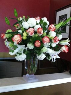 Magnificent Mother's day arrangement by the paisley petal.