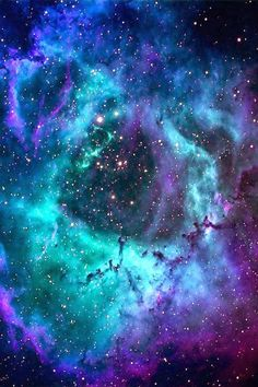 Rosette Nebula - deep space heavens - iphone background wallpaper