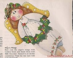 Christmas Angel Pin by Mary Helen Gould Magazine Article Pattern Bargain Priced | eBay