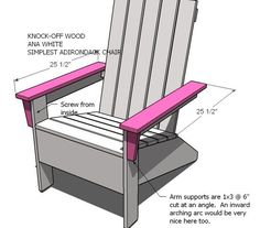 Ana's Adirondack Chair for outside
