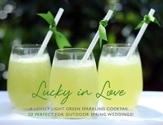 Lucky in Love - a green cocktail with melon, mint, lime, vanilla vodka