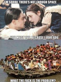 There's is not Enough Space Titanic Funny Jokes All Meme, Stupid Funny Memes, Haha Funny, Hilarious, Lol, Funny Humor, Funniest Memes, Top Funny, Titanic Funny