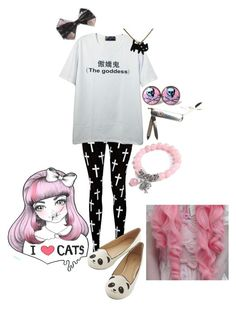 """Pastel goth #11 (??)"" by red-foxess-and-wolf ❤ liked on Polyvore featuring Reverse and cutekawaii"
