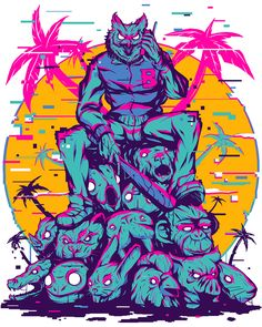 Hotline Miami on Behance