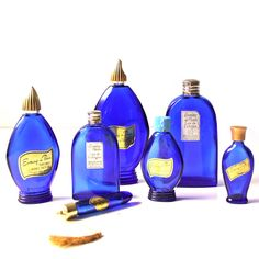 Paris Evening Perfume Bottles - - I remember this bottle being on the shelf at my Nana's house.   Have the small one