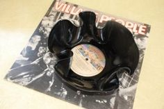 Upcycle records! Melt in oven - mold into bowl - serve chips in it.