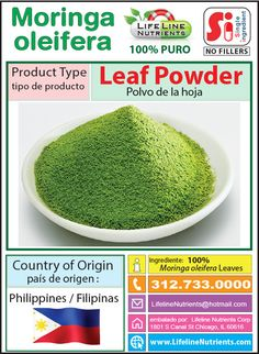 Moringa Oleifera Leaf Powder - Philippines - Free Shipping