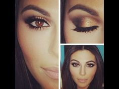 light prom makeup for brown eyes - Google Search