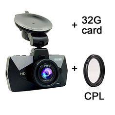 "Car Dash Cam - SEYDI S1 2.7"" LCD FHD 1296P 170 Wide Angle Car Dashboard Camera DVR Recorder Ambarella A7 LA70 with CPL 32G Card Dashboard GPS G-Sensor WDR Superior Night Vision WDR Loop Recording"