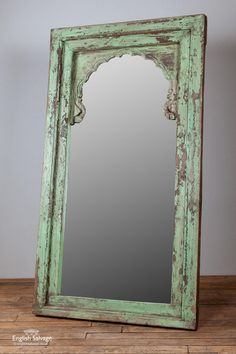 Large Pale Green Painted Hardwood Wall Mirror In 2019 Pale Green, Colored Mirror, Vintage Mirror Wall, Painting Bathroom, Mirror Designs, Green Mirrors, Beautiful Mirrors, Mirror, Green Furniture