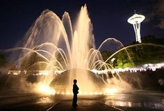 The International Fountain at Seattle Center; photo by Joshua Trujillo, Seattle PI