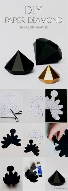 Best DIY Gifts for Girls - DIY Paper Diamond - Cute Crafts . - Best DIY gifts for girls – DIY paper diamond – cute crafts and …, - Easy Crafts For Teens, Diy For Girls, Diy And Crafts, Arts And Crafts, Summer Crafts, Kids Girls, Felt Crafts, Teen Diy, Decor Crafts