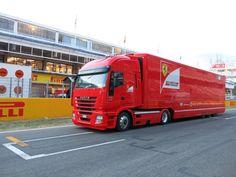 A Scuderia Ferrari truck
