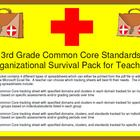 Third Grade Common Core Math Standards tracking sheets include the domains of: Operations and Algebraic Thinking, Number and Operations in Base Ten...