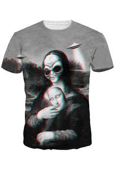 Monna Lisa 3D Printed T-shirt