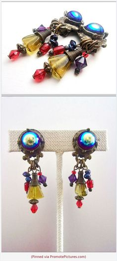 Color Lane Earrings Contemporary Gold Tone Dangle /& Drop With Black Glass Beads For Women//Girls