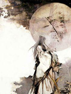 Wild Ground Phlox {April's Full Moon} Manga Art, Anime Art, Japon Illustration, L5r, China Art, Chinese Painting, Pretty Art, Ancient Art, Figurative Art