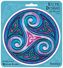 Triskele tattoo Our mother daughter tattoo Nothing makes a statement . Celtic Mandala, Celtic Art, Mother Daughter Tattoos, Tattoos For Daughters, Window Stickers, Window Decals, Spiral Tattoos, Celtic Tree Of Life, Celtic Symbols