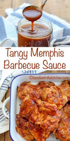 Memphis Bbq Sauce Recipe, Homemade Bbq Sauce Recipe, Barbecue Sauce Recipes, Bbq Sauces, Bbq Sauce Recipe For Ribs, Smoker Recipes, Rib Recipes, Sweet And Tangy Barbecue Sauce Recipe, Barbecue Sauce For Ribs