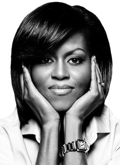 Michelle La Vaughn Robinson Obama (1964) - American lawyer and writer, is the wife of the 44th and current President of the United States, Barack Obama, and the first African-American First Lady of the United States. Photo © Platon (Antoniou)