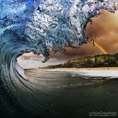 I'm inspired and soothed by the amazing surf images captured by Robbie Crawford.