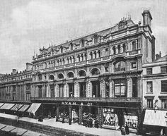 Hyam's store on New Street, built in the 1830s and demolished in the 1950s