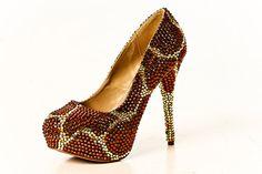 Crystal Heels in Giraffe by yhasminae on Etsy, $380.00