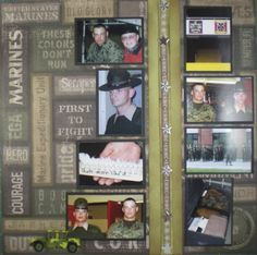 marine corps boot camp barracks scrapbook page right