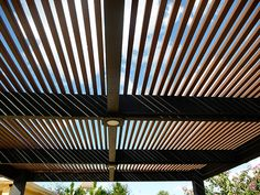 Modern Wood Pergola by Outdoor Kitchens & Living of Florida, via Flickr - Love the built in lighting