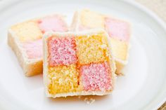 Battenberg Cake Recipe on Cake Central sponge cake wrapped with marzipan, prepared in a checkerboard pattern. It's simple to make and is stunning when sliced.