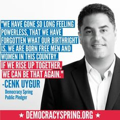 Cenk Uygur will risk arrest this #April to #EndCorruption... Will you? Take the #DemocracySpring pledge at www.DemocracySpring.org