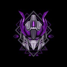 Violet Horned Head Robot Illustration Vector and PNG Free Vector Graphics, Vector Art, Robot Illustration, Illustrations, Violet Background, Baby Banners, Gundam Art, Game Logo, Displaying Collections