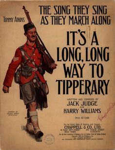 It's a Long Way to Tipperary - WWI Sheet Music